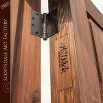 guards entry custom wood door