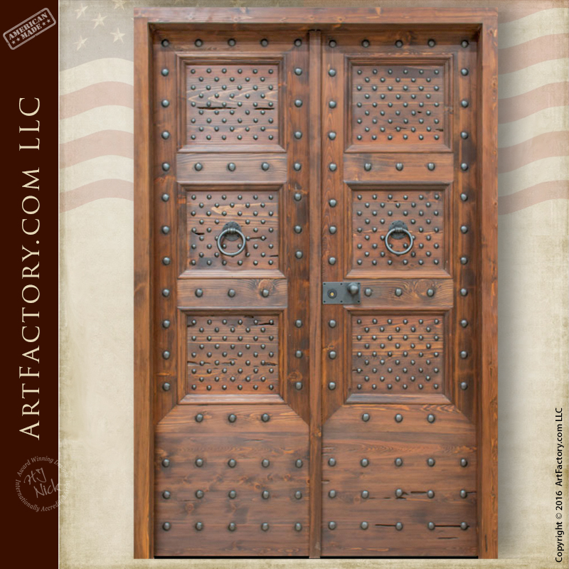 Spanish Renaissance Style Door: With Hand Forged Iron Hardware U2013 3300RPA