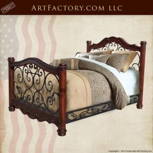 custom Italian style bed