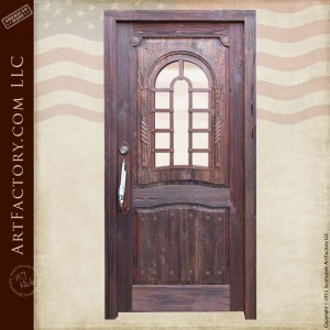 old west inspired wooden door