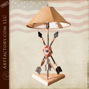Southwestern style arrow lamp