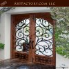Renaissance Style Wrought Iron & Wood Entrance Gate