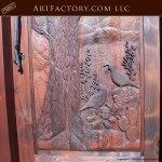 hand carved quail theme door