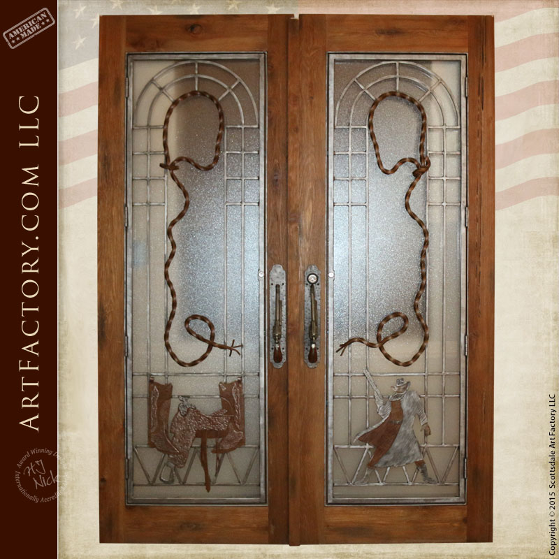 western style French doors