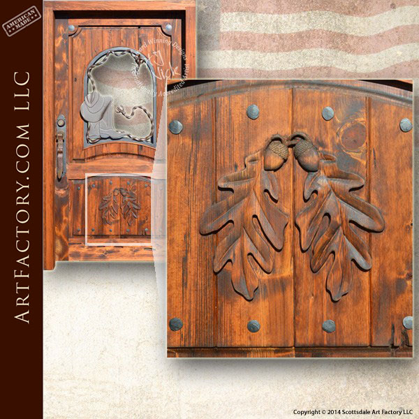 custom cowboy door & Custom Cowboy Door: Includes Hand Forged Western Hardware
