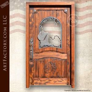 Western Style Doors Hand Forged Fine Art Custom Hardware