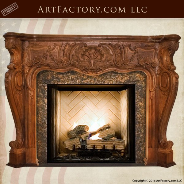 master hand carved fireplace mantel french rococo