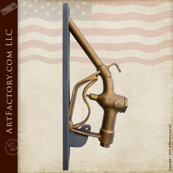 Gas Pump Nozzle Door Pull Custom Hand Forged Door Handles