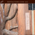 grand entrance door hand carved forest theme wood door