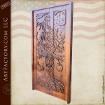 hand carved solid wood door