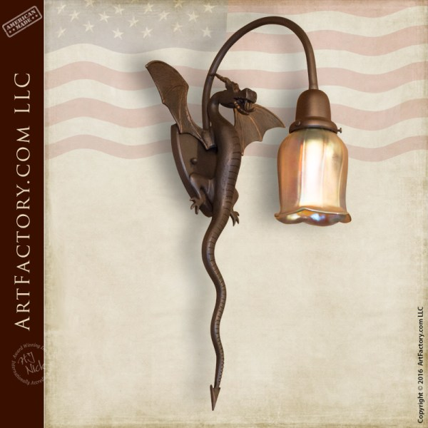 new product 7c2fa 8742a Dragon Theme Iron Lighting: Castle Wall Sconces