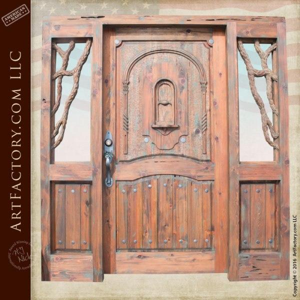 handcrafted historic wood door
