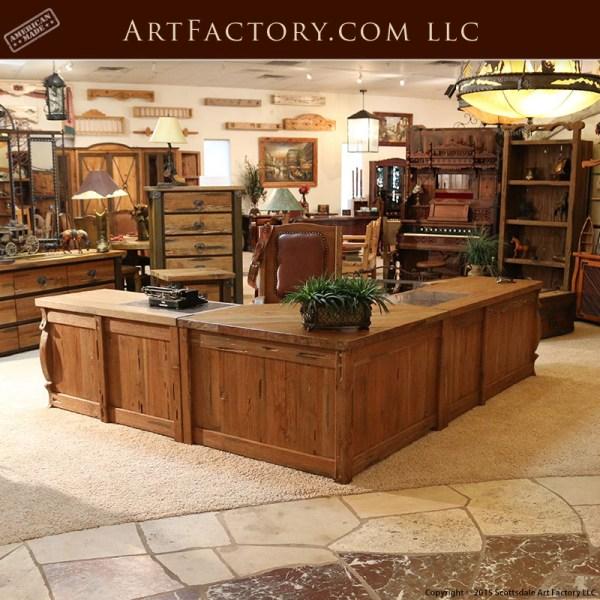 rustic executive office desk