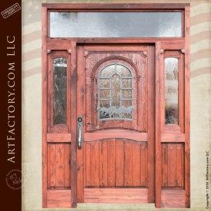 wild stallion western style door