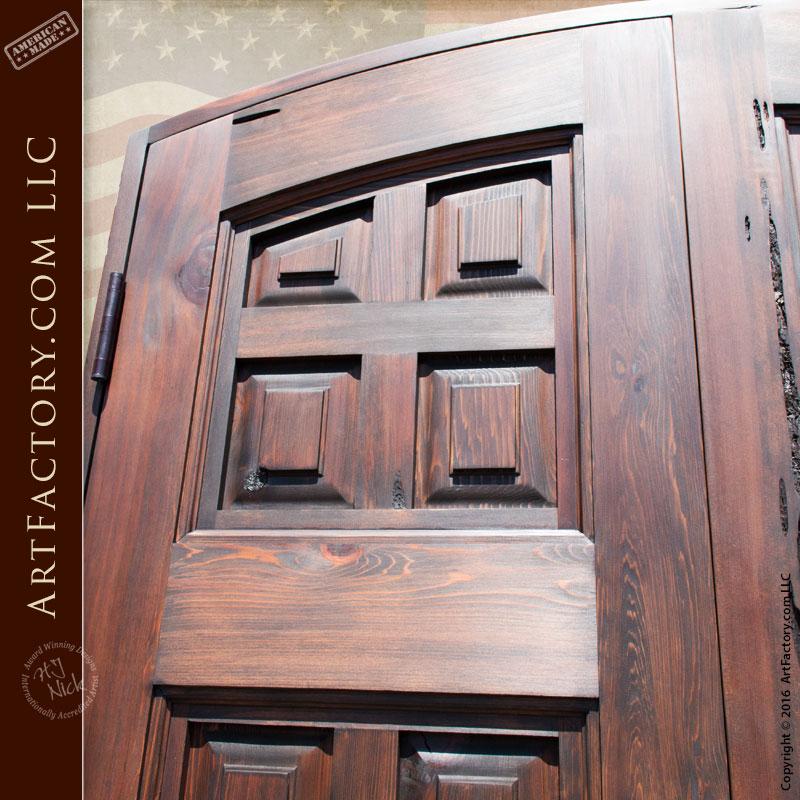Custom wooden door siena divided panel scottsdale art for 15 panel solid wood door