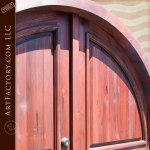 arched entryway custom doors
