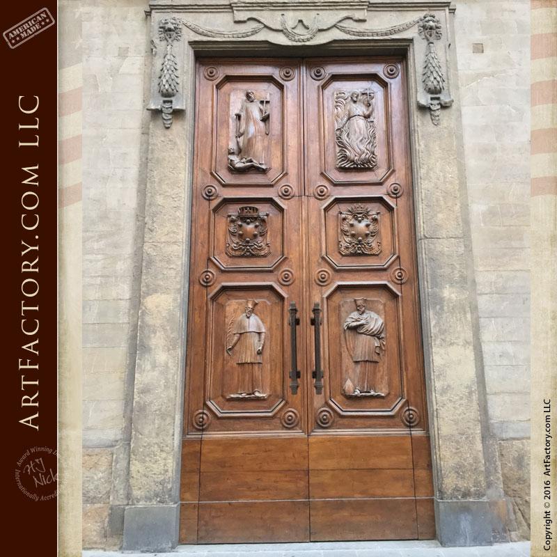 custom wooden doors