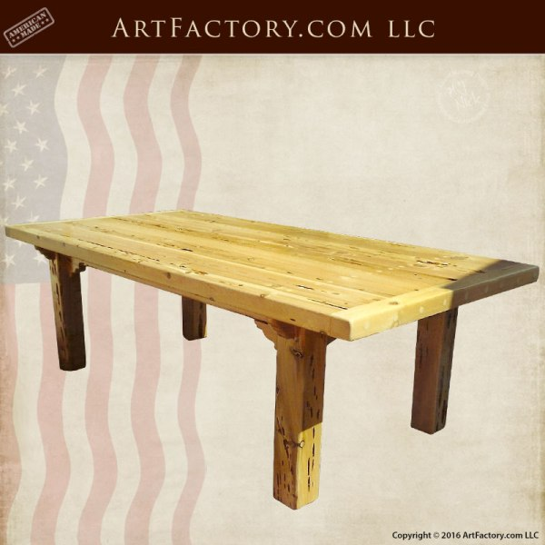 Farmhouse Solid Wood Table, Custom High End Furniture