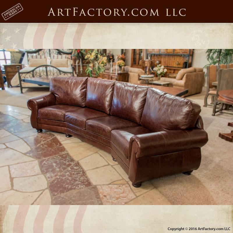curved four cushion sofa custom full