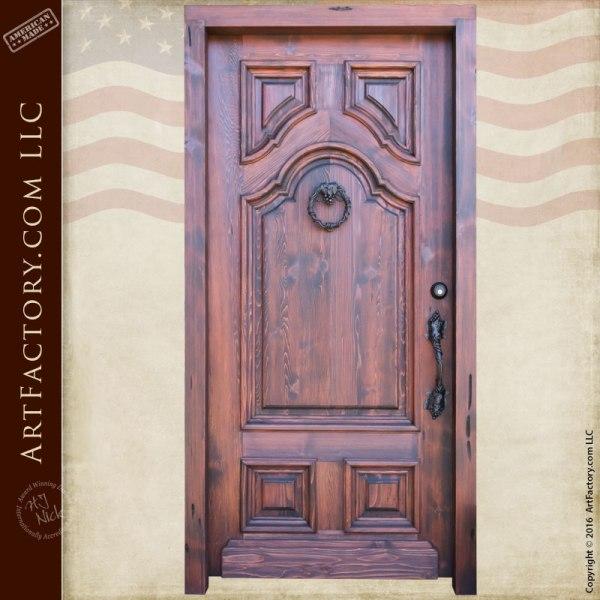 Custom Wood Door Italian Style Handcrafted Entry