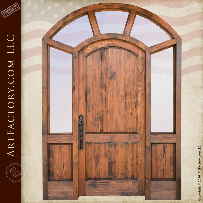 handcrafted custom entrance door