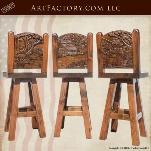 Custom Wood Bar Stools