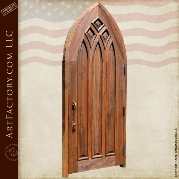 gothic style entry door