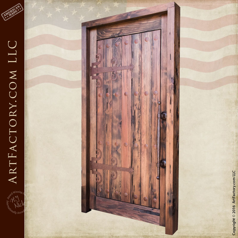 Hand crafted doors wooden doors custom scottsdale art for Wooden front doors fitted