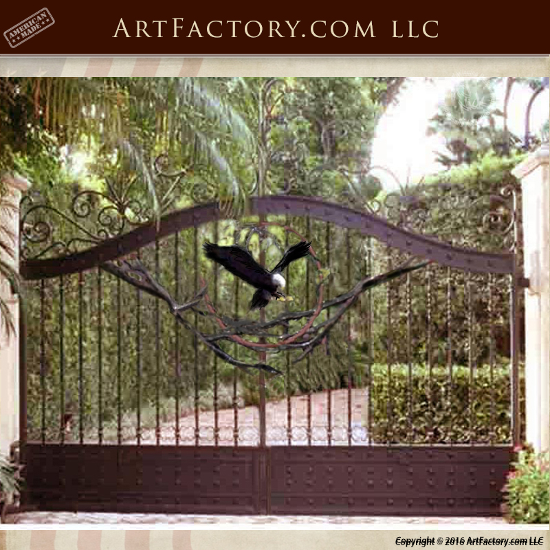 Custom Iron Security Gate