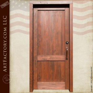 Two Panel Custom Entrance Door