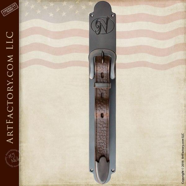 custom belt buckle door pull