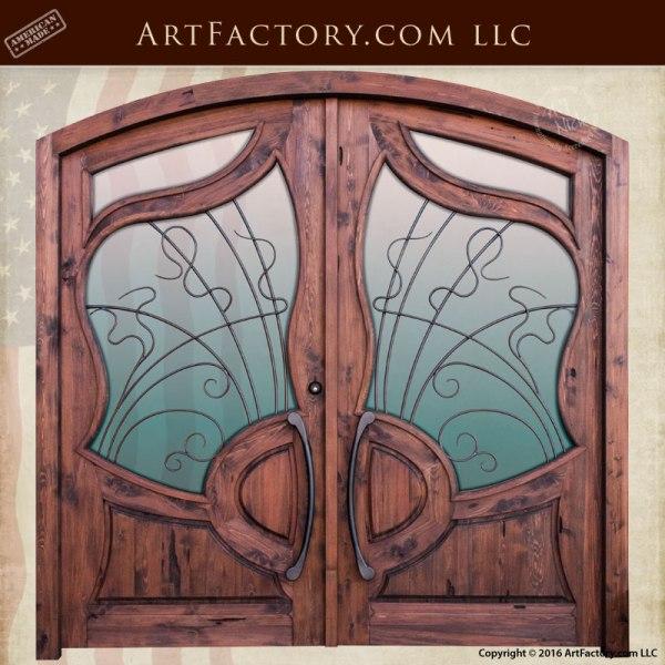 custom Art Nouveau Style doors