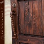 Three Panel Side Gate Custom Wood Entry Gates