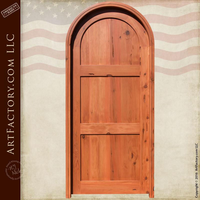Classic Three Panel Door Solid Arched Castle Doors