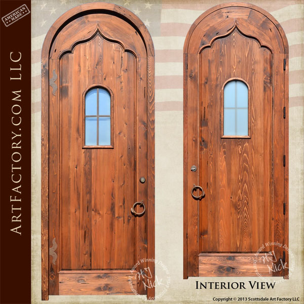 gothic arched front door