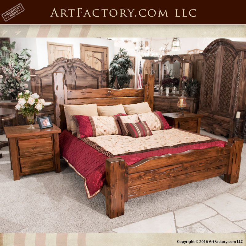 Superior All American Handcrafted Wood Furniture Bedroom Set U2013 CWB980