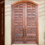 wood panel entrance doors