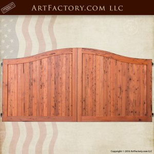 custom bell curve wooden gate