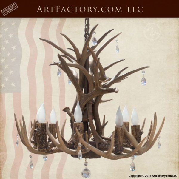 chandelier, antler custom chandelier, custom lighting