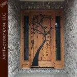 custom apple tree theme door