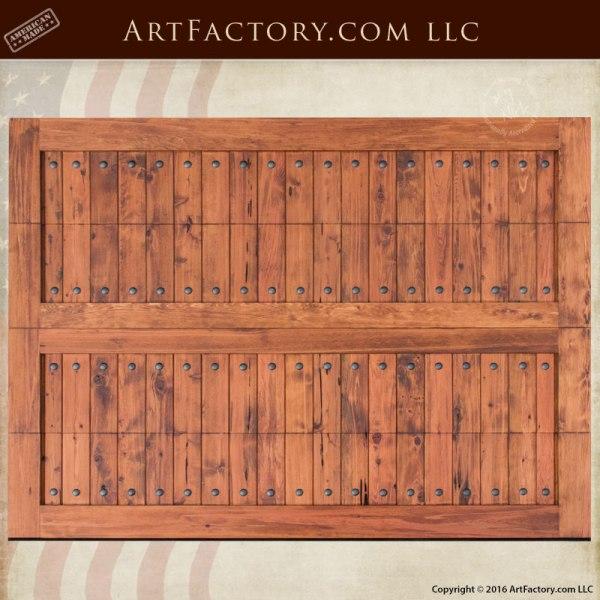 Handcrafted Plank Wood Garage Door