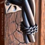 Long Twist Custom Door Pulls, Hand Forged