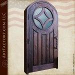 dark custom wood door