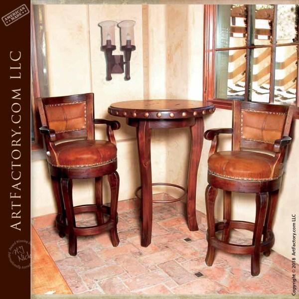 custom swivel bar stools