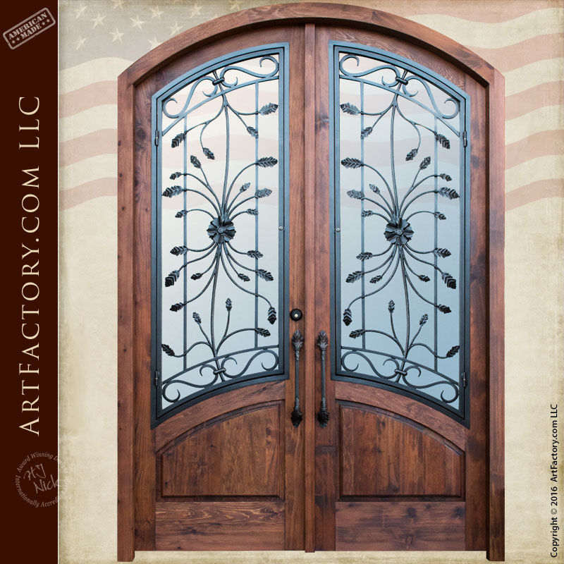 semi arched custom double doors