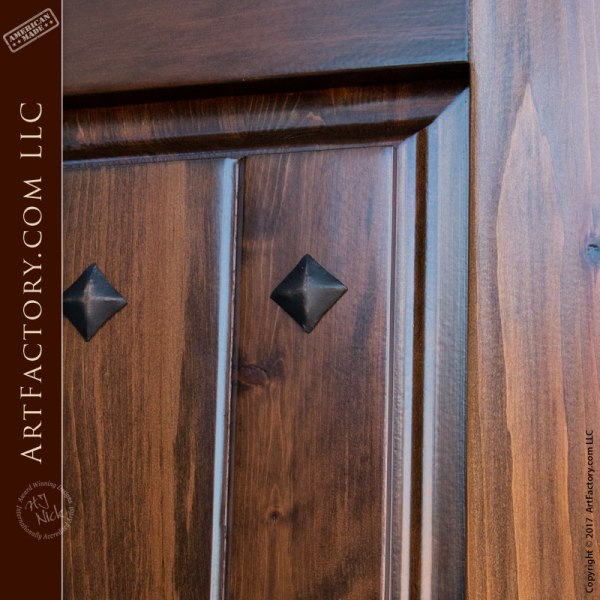 Custom solid wood entry door with old world charm for Old world entry doors