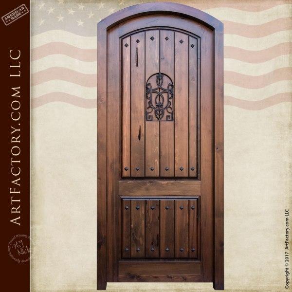 Eyebrow Arched Solid Wood Custom Entrance Door