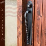 Custom Wood Fortified Entrance Gate Adds A Statement