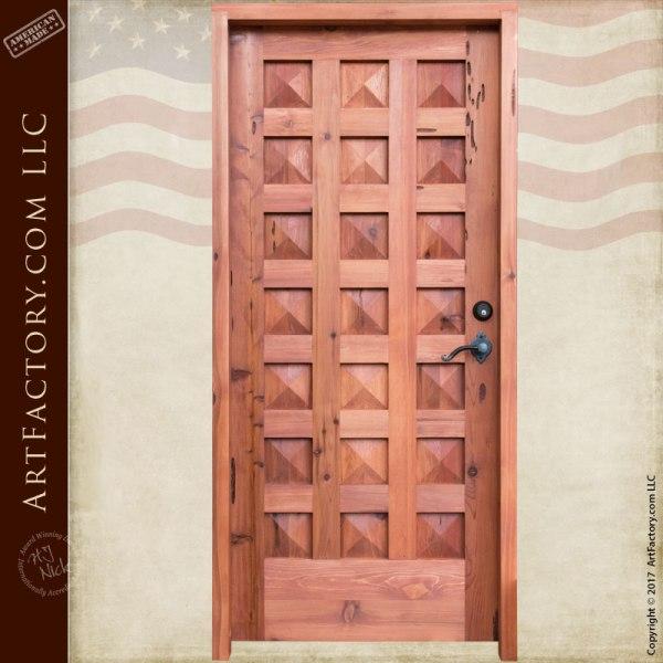 Pyramid Panel Grand Entrance Door Includes Hidden Speakeasy Portal