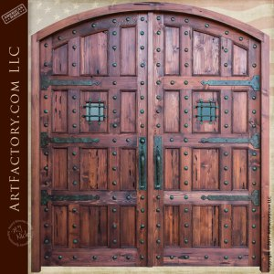 Castle Style Arched Double Doors